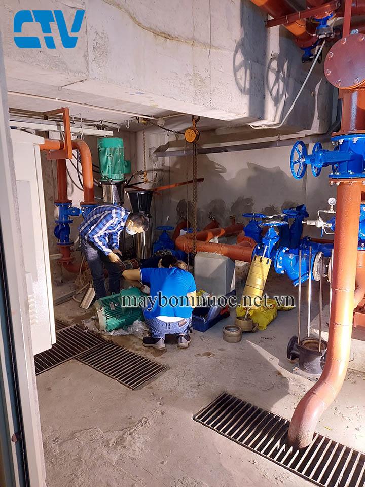 Buồng máy bơm trục đứng công suất lớn giá rẻ nhất tại Hà Nội